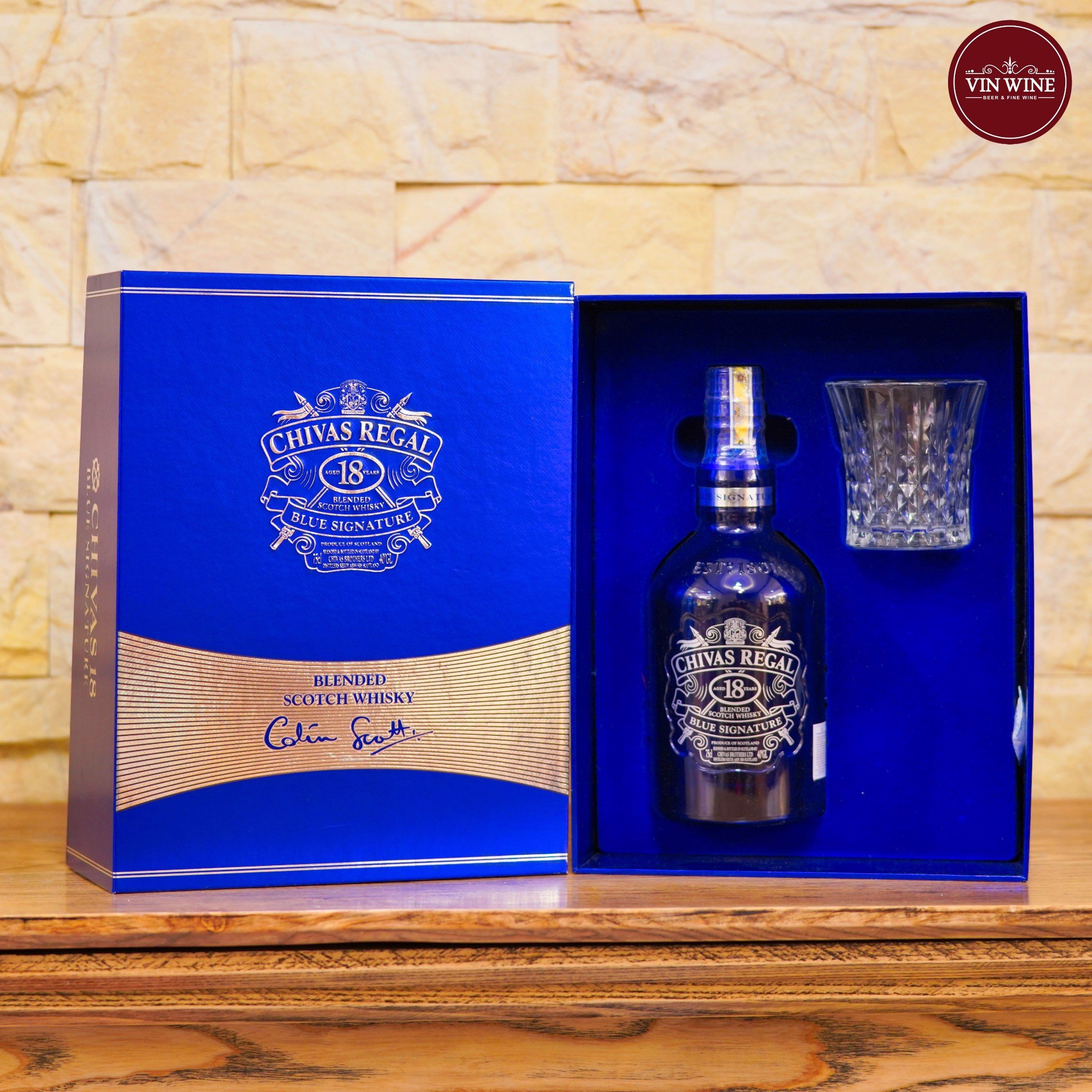 Chivas 18 Years Blue Signature Hộp Quà