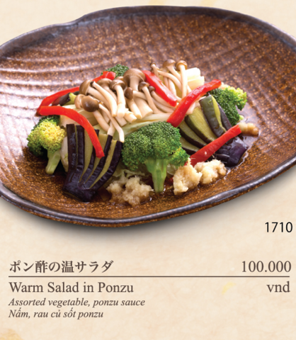 Warm Salad in Ponzu