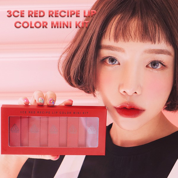 BỘ 3CE RED RECIPE LIP MÀU