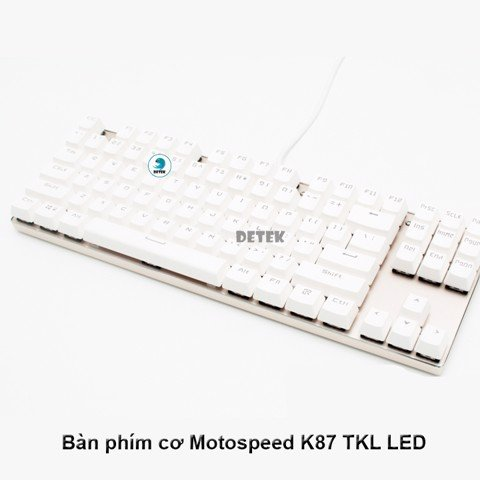 Bàn phím cơ Motospeed K87 TKL LED Blacklight Rainbow Gaming Keyboard (Đỏ)