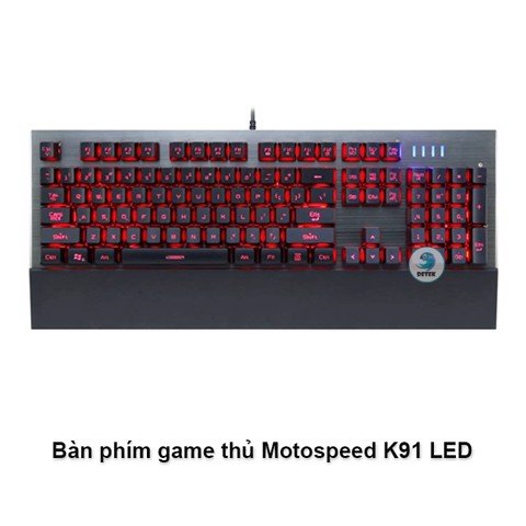 Bàn phím game thủ Motospeed K91 LED RBG Gaming Keyboard