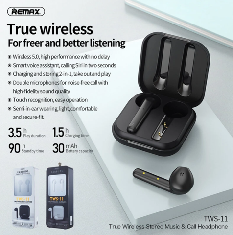 Tai nghe Bluetooth True Wireless Remax Earbuds TWS-11
