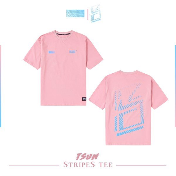 Stripes Tee (Pink) (No Restock)