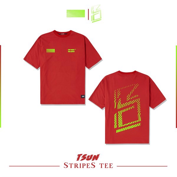 Stripes Tee (Red) (No Restock)