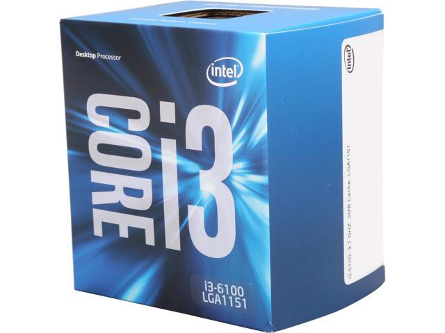 Intel Core i3 6100 (3.7Ghz/ 3Mb cache)