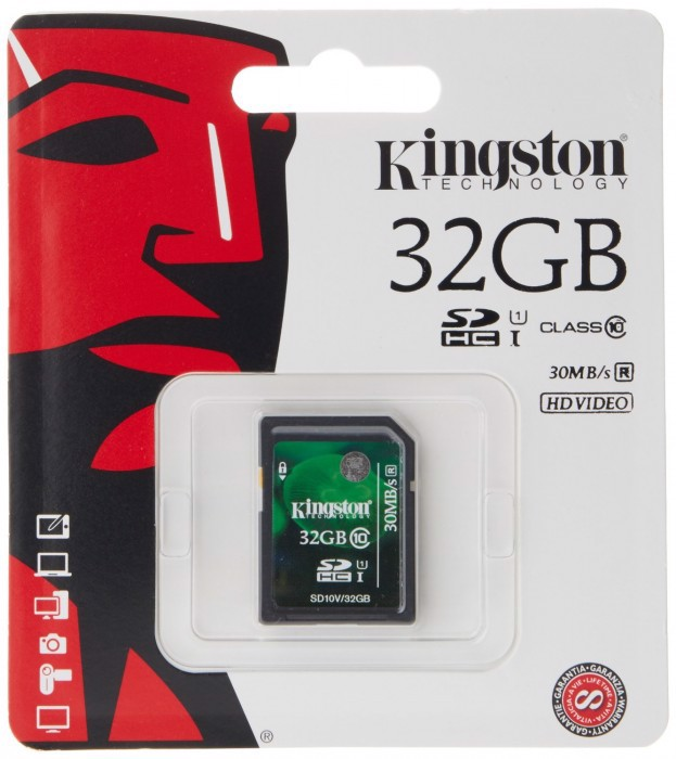Thẻ nhớ SD Kingston 32Gb Class 10