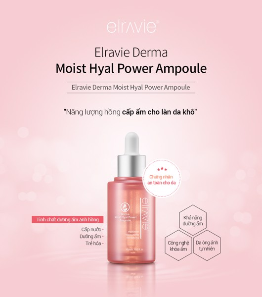 Ampoule cấp ẩm Elravie Moist Hyal Power