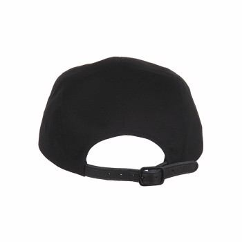 Leather Strap Camp Cap Black Oostock