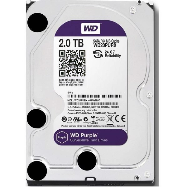HDD Western 2TB Purple Cty