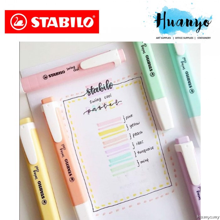 BÚT HIGHLIGHT STABILO SWING COOL PASTEL