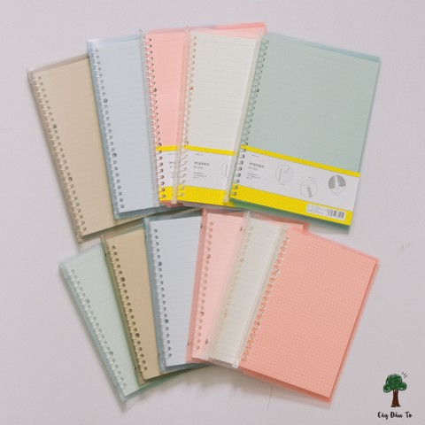 PASTEL COLOR BINDER NOTE