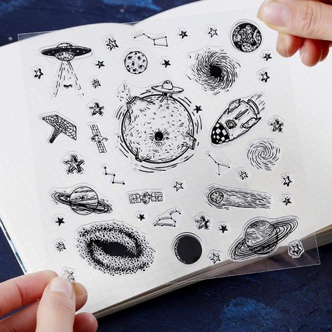 SET STAMP STICKER GALAXY