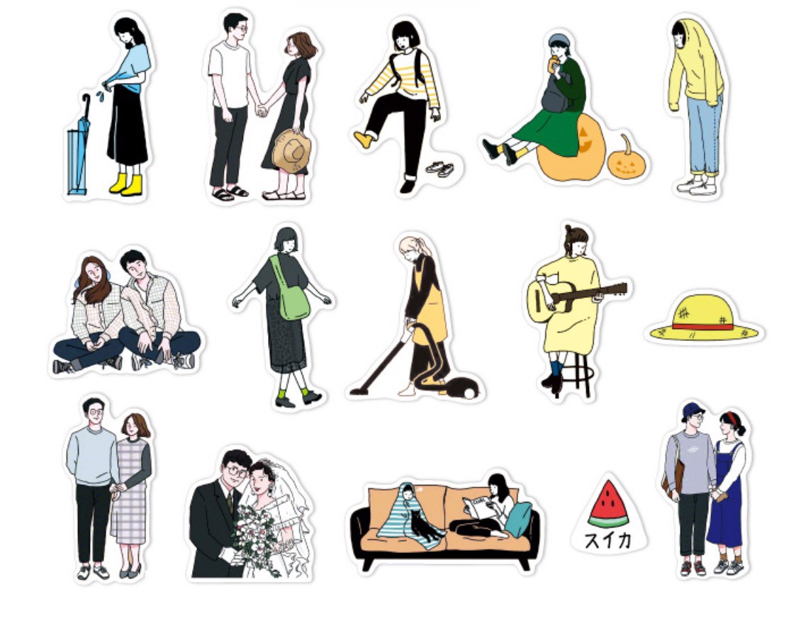 Small Pack Sticker Couples