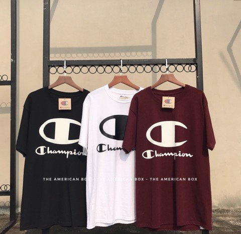 P100115 CHAMPION FRONT BIG LOGO TEE