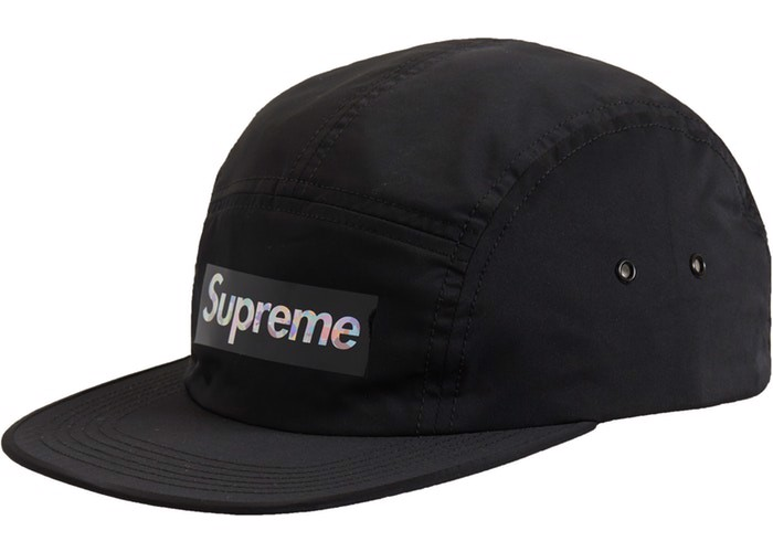 Supreme Holographic Logo Camp Cap Black