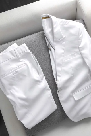Set Đồ Vest Simple In White