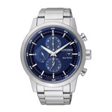 CITIZEN Chronograph Blue Dial 43mm - Mens Watch