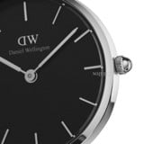 DANIEL WELLINGTON - Petite READING Black 28mm Silver - Ladies Watch