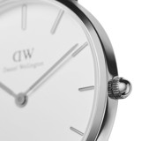 DANIEL WELLINGTON - Petite YORK White 32mm Silver - Ladies Watch