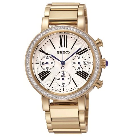 SEIKO Chronograph Cabochon Crown 30mm - Ladies Watch