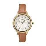 TIMEX - 	Peyton 36mm Leather Strap Watch
