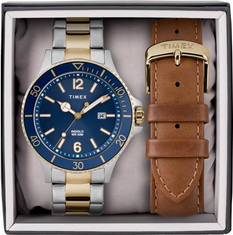 Harborside 43mm Bracelet Watch Gift Set
