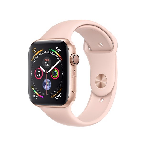 Apple Watch S4 GPS Gold Aluminum Case with Pink Sand Sport Band