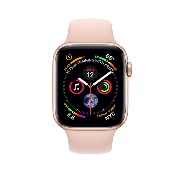 Apple Watch S4 GPS+Cellular Gold Aluminum Case with Pink Sand Sport Band