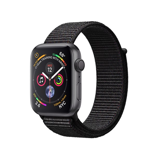 Apple Watch S4 GPS Space Gray Aluminum Case with Black Sport Loop