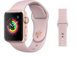 Apple Watch S3 GPS GOLD Aluminum Case with Pink Sport Band