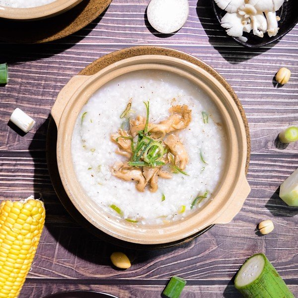 CHÁO NẤM BÀO NGƯ (Rice Porridge With  Abalone Mushroom)