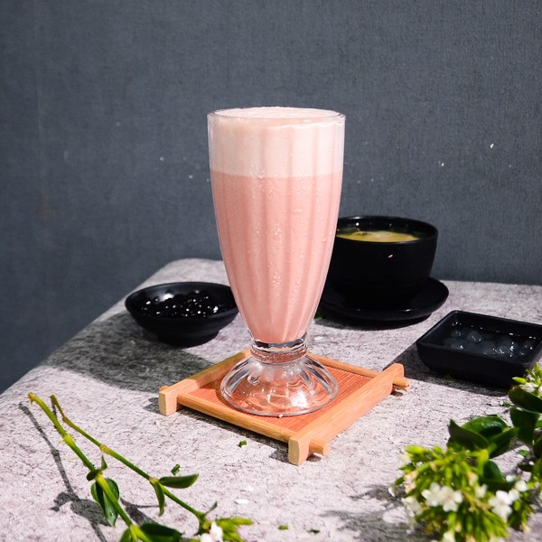 TRÀ SỮA DÂU (Strawberry Milk Tea With Pearls)