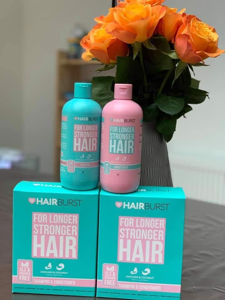 Bộ dầu gội Xả HairBurst For Longer Stronger cải thiện rụng tóc