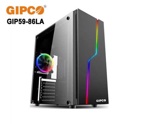 Vỏ Case Gipco Gaming 5986LA (1 LED 2 fan 12)