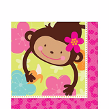 Adorable Monkey paper plates large