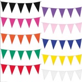 Solid color flag bunting
