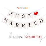 Dây treo Just Married - Just Married bunting