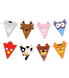 Triangle animal bunting