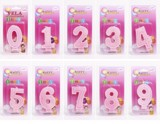 Nến số hồng - Number birthday candles pink