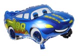 Blue car foil balloon