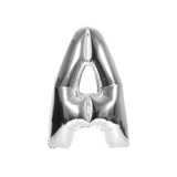 40cm Letter balloon in silver foil
