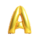 40cm Letter balloon A-Z in gold foil