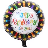 Bong bóng hình chữ happy birthday ngọn nến - Happy birthday candle foil balloon (45cm)
