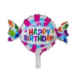 Bong bóng hình kẹo Happy Birthday - Candy Happy Birthday Foil Balloon