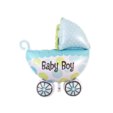 Baby boy pram foil balloon