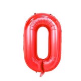 Red number balloon 40 cm