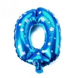 Blue number foil balloon 70cm