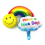 Smile rainbow balloon