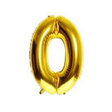 Gold number foil balloon 70cm