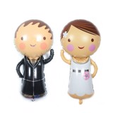 Bridegroom foil balloon